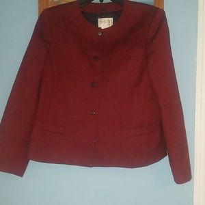 Womens jacket wool 100% petite  size 12